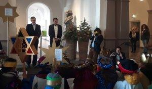 Zu Besuch im Rathaus bei Bürgermeister Sven Gerich...